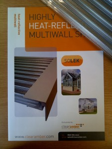Polycarbonate multiwall that reflects the heat! - Solek<sup>&reg;</sup> polycarbonate multiwall - Summer 2013 launch