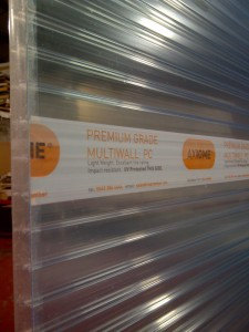 Polycarbonate multiwall expands further - Axiome<sup>&reg;</sup> polycarbonate; new CNC