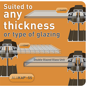 ALUKAP<sup>®</sup>-SS SELF SUPPORT GLAZING BARS SUIT ANY THICKNESS OF GLAZING