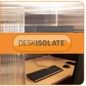 Introducing DeskIsolate | Protective Desk and Workspace Social Distancing Isolation System