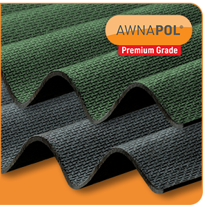 Awnapol<sup>®</sup> PREMIUM CORRUGATED BITUMEN SHEETS – NOW MANUFACTURED